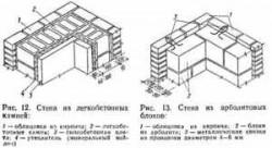 Стены из легкобетонных камней