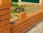 Фундамент под кирпичный забор: столбчато-ленточное и ленточное основание